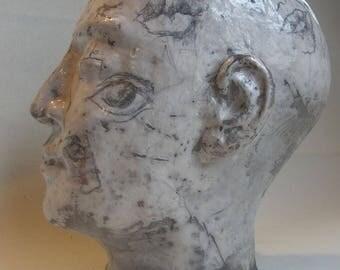 "Sculpture ""cartoon head"""