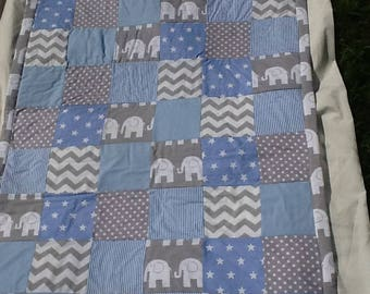 MADE TO ORDER Patchwork Child or Baby Quilt .