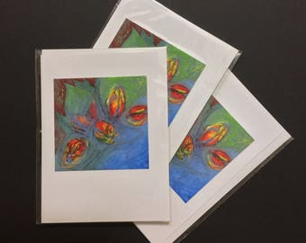 "Tulips (5"" x 7"" greeting card)"