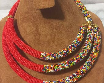 African Maasai Beaded Necklaces