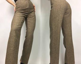 80's VTG High Waist Wool Trouser Pants
