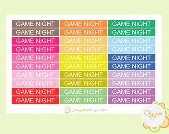 Game Night Stickers, Header Stickers, Planner Stickers, Game Day Stickers, Erin Condren Life Planner, Filofax, Happy Planner, Kikki K