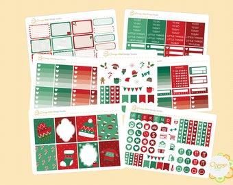 Christmas Weekly Kit, Christmas Planner Stickers, December Weekly Kit , Erin Condren Life Planner, Happy Planner