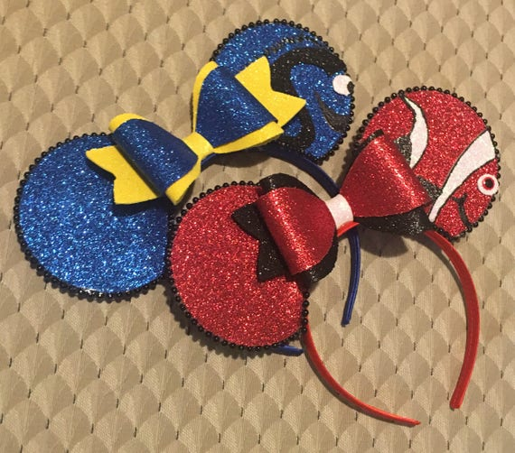 Finding dory Nemo Disney inspired Minnie Mickey Mouse ears