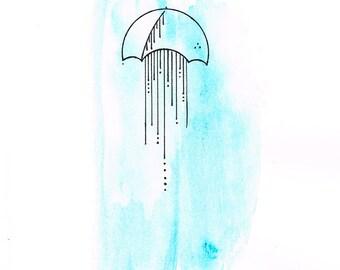 Umbrella-10 (Original Watercolor Painting)