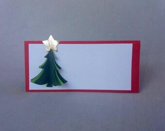 Christmas Place Card. Christmas.3D Christmas place card.