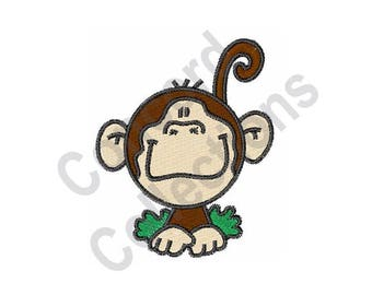 Monkey - Machine Embroidery Design