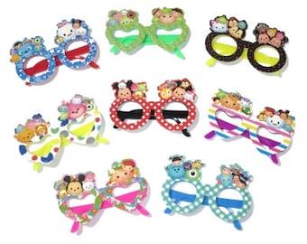 Disney Tsum Tsum Party Glasses SET of 12 - Birthday Glasses