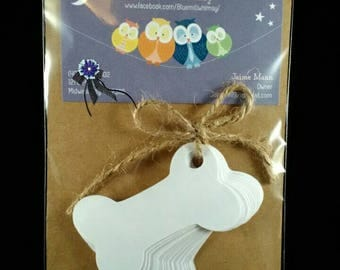 Dog bone gift tags, dog bone price tags, gift tags, craft tags, die cuts, paper craft, crafting.