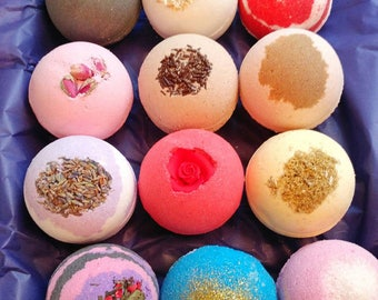 10 XL Bath Bombs | All Natural Bath Bombs | Bridal Shower Favors | Baby Shower Favors | Spa Gift Sets | Teacher Gifts | FREE Gift Wrapping