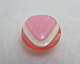 10 small buttons - pink - 13mm