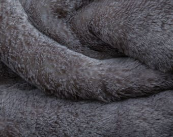 Silver frost Sable Faux Fur fabric