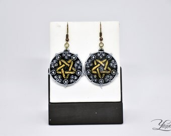 Yennefer earrings - The Witcher inspired | Cosplay Jewellery | The Witcher Medallion | Yennefer Cosplay