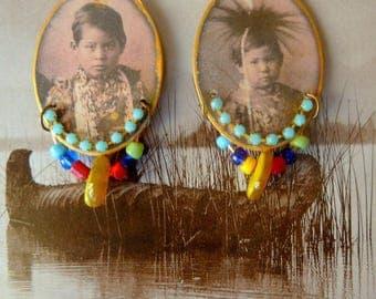 """Earrings """"Native children"""""""