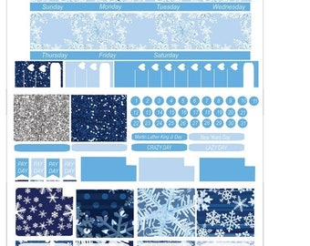40% Off Sale January Monthly Layout//Sized for Erin Condren//Sized for Happy Planner