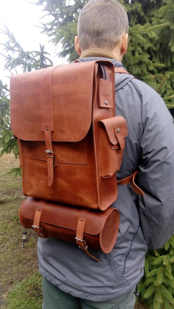 Backpack motorcycle leather backpack original backpack