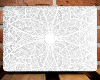Mandala MacBook Air 13 Case MacBook Pro Retina 15 Case Girlfriend Gift MacBook Pro 13 Cover MacBook Hard Cover MacBook 11 Case Floral WCm140