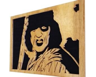 Baseball Furies - The warriors - scroll saw portrait - Plywood - Wall art