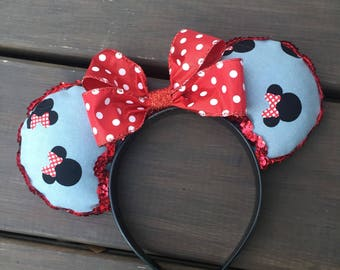 Minnie Mouse inspired mouse ears!