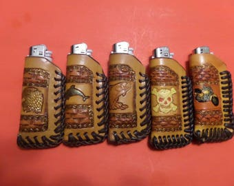 Leather Lighter Cases / Men - Women / Hand Made / Hand Carved / Hand Tooled / Canadian Made / All occasion / Also Customizing .