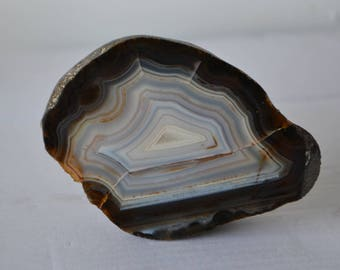 Banded Agate from Uruguay River, Entre Rios, Colon, Argentina * UNIQUE *