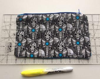 Cyber man pencil case/ makeup bag