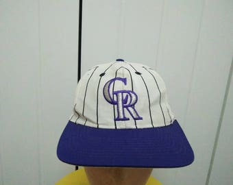 Rare Vintage COLORADO ROCKIES Big Logo Embroidered Spell Out Cap Hat Free size fit all