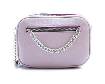 Leather Bag Tefia Cat Lavander