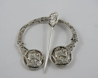 Silver Celtic Penannual Brooch/Kilt Pin