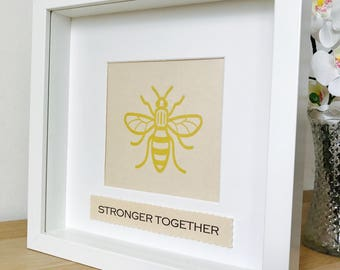 Charity Manchester Bee Frame, All Profits Donated to Charity Frame, Manchester Charity Frame, Stronger Together Frame, We Love Manchester