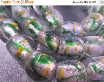 ON SALE 15% OFF Lampwork Glass Nuggets Beads 21pcs