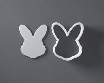 Easter bunny head cookie cutter, 3D printed