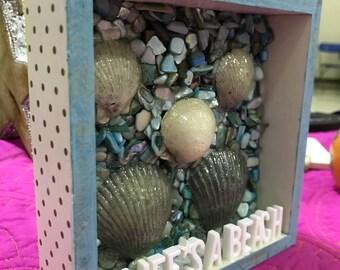 Lifes a Beach shadow box