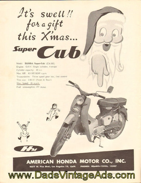 1959 Honda Super Cub (CA-100) ''It's Swell!'' Ad #5912amot09