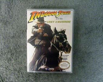 Indiana Jones and the Last Crusade Custom NES - Nintendo Case (No Game)