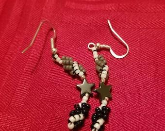 Sliver Blue Star Earrings