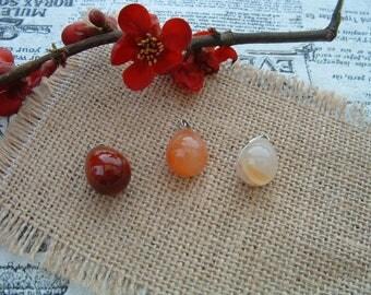 Very nice pendant natural stone CARNELIAN Teardrop