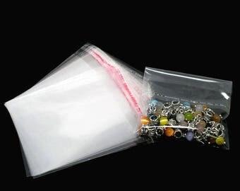 50 sachets 12x9cm pockets self-adhesive plastic bags