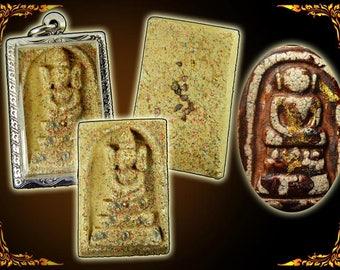 Thai Buddha Pendant Amulet Sacred Phra Somdej Kaisoe Sarira Gems Meditation Buddhist Spiritual Collectable Buddha Temple #10423