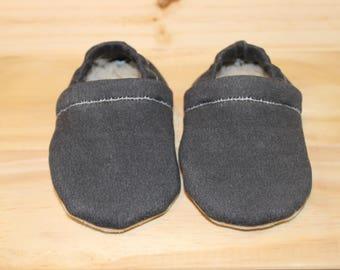 Black baby moccasins