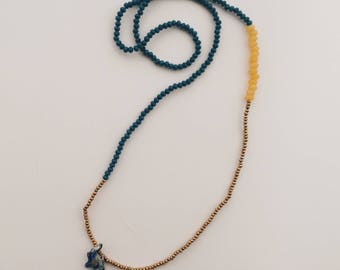 Lucky Elephant pendant necklace gemstone