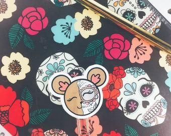Sugar Skull Rose Gold Planner Paper clip