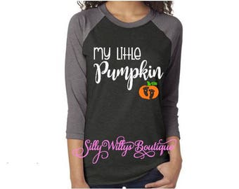 My little pumpkin shirt, Pregnancy Announcement Shirt, Pregnancy Shirt, Maternity shirt, Halloween Costume, Halloween shirt, Unisex shirt