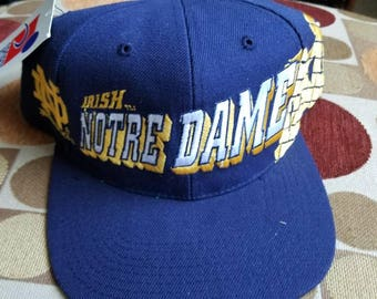 Norte Dame sports specialties snapback hat, deadstock college snapback, ncaa Norte dame football hat
