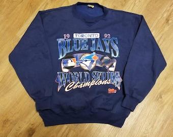 Size large 1992 Toronto blue jays world series sweater, chalkline 90s sweater