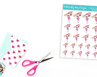 Frenchie Flamingo No Spend Money Stickers for Erin Condren, Plum Planner, Inkwell Press, Kikki K or Any Size Planners