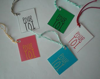 "Colorful labels printed ""for you"""