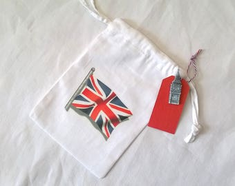 Bag Union Jack fabric & London figure choice