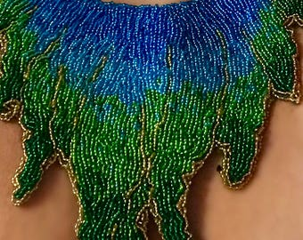 Beaded embroidery necklace
