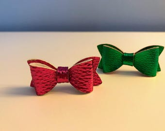 Mini Hair Bows, Valentine's Day /St. Patrick's Day Combo, Holiday Set